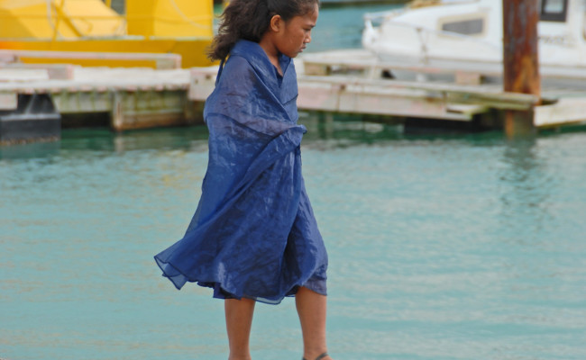 A23 F-0148 Girl on Waterfront