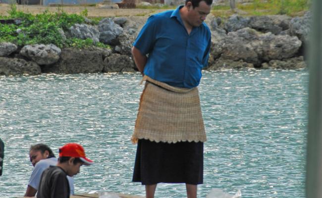 A24 F-0414 Tongan Man in Harbor