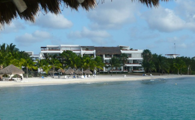 Now: We stayed at Residencias Reef Condo about 8 miles south of town