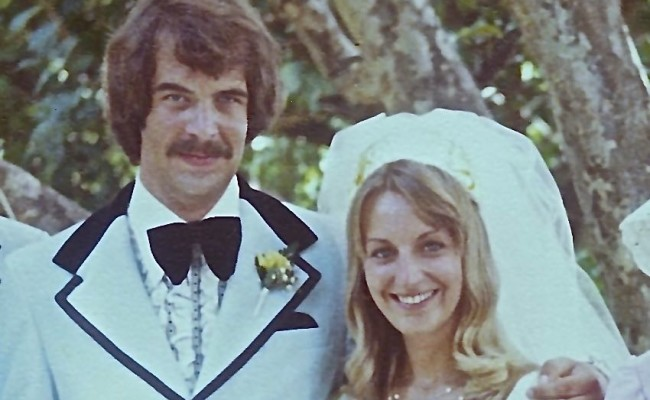 Then:  Our wedding, on August 23, 1974